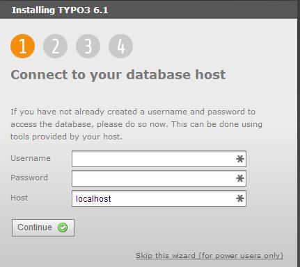 TYPO3 - параметры базы данных